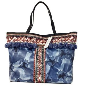 Rebecca Minkoff Mini poms tiny medallions tote bag